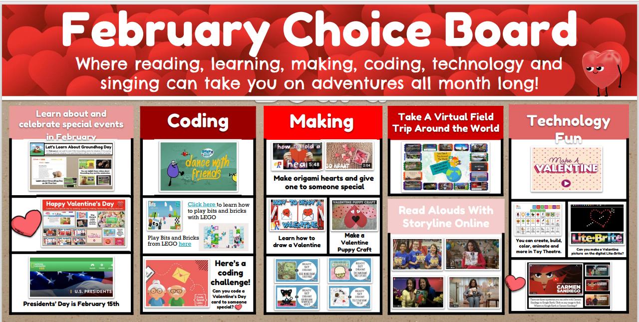 Feb choice board